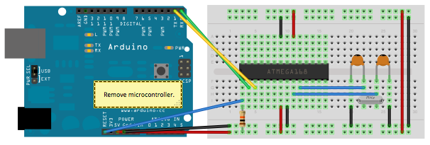 Programming atmega using arduino uno smd sachleen